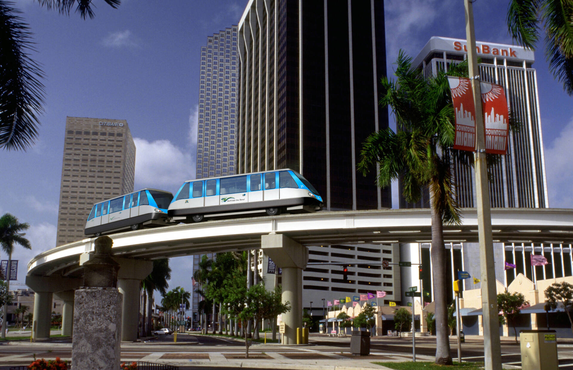 People Mover at Miami International Airport