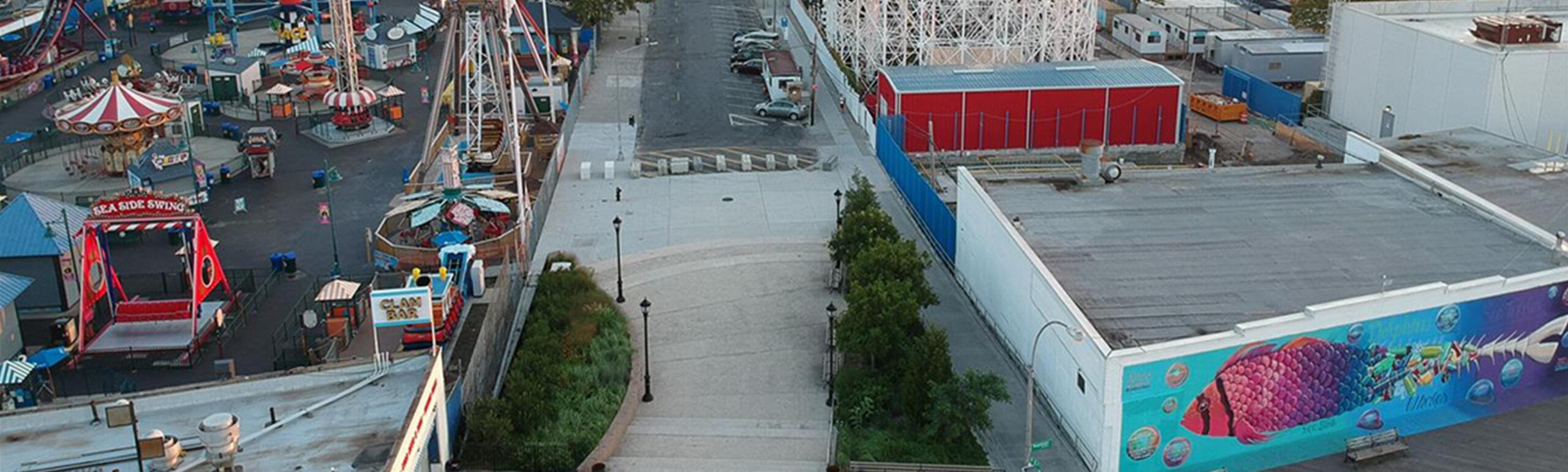 """Coney Island Boardwalk/W. 10th St. """"Street-End"""" Plaza"""