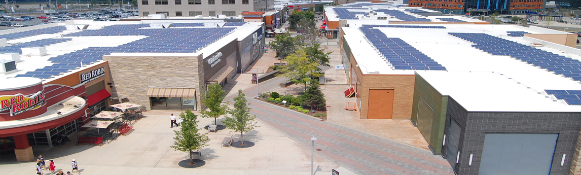 Patriot Place Roof-Mounted Solar Array