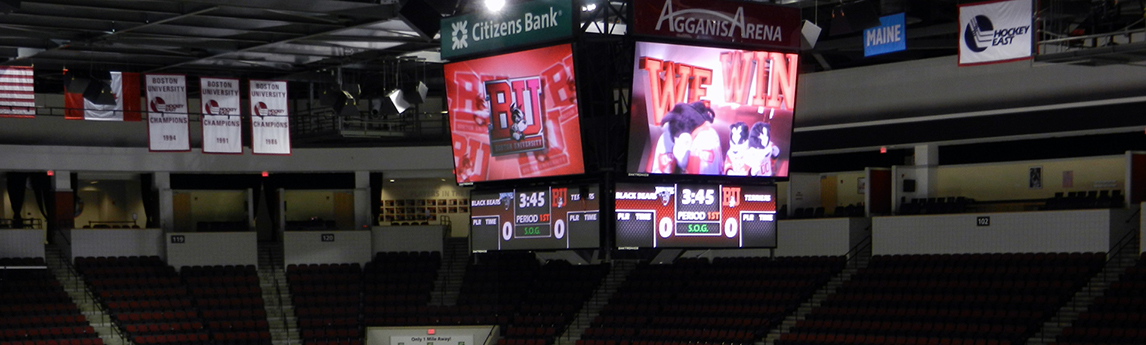 Boston University Agganis Ice Arena Scoreboard